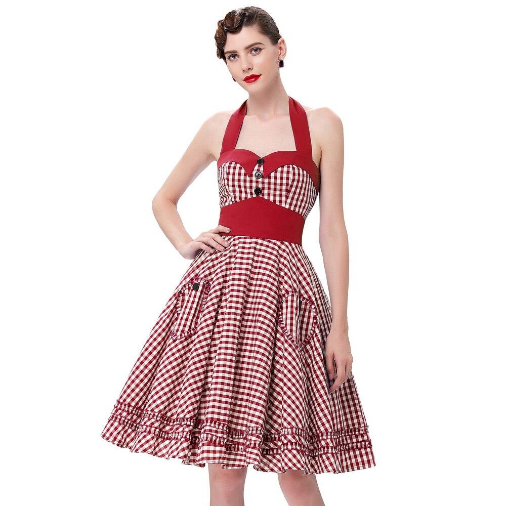 Belle Poque Summer 50s Polka Dot Retro Vintage Pinup Dress Big Swing ...