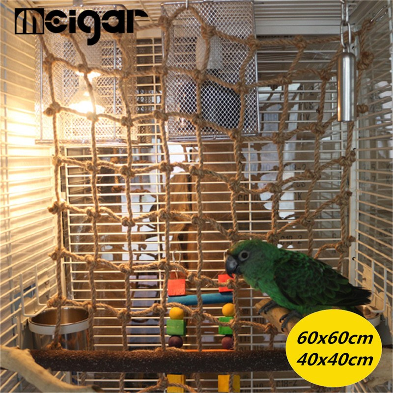 New Parrot Birds Climbing Net Jungle Rope Animals Toy Swing Ladder Chew Discounts Sale Bathroom Fixtures Robe Hooks