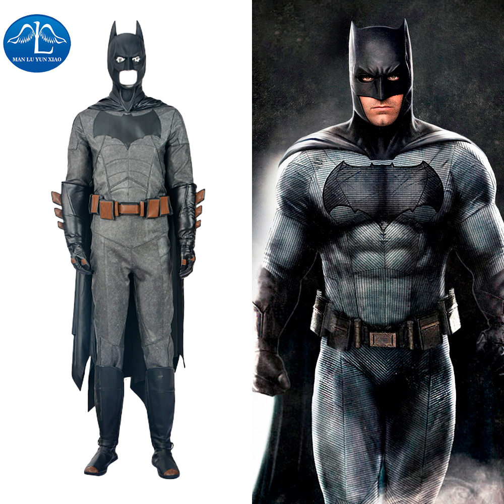 MANLUYUNXIAO Men's Batman Cosplay Costume Batman v Superman Deluxe Outfit Halloween Costume For Men Custom Made High Quality