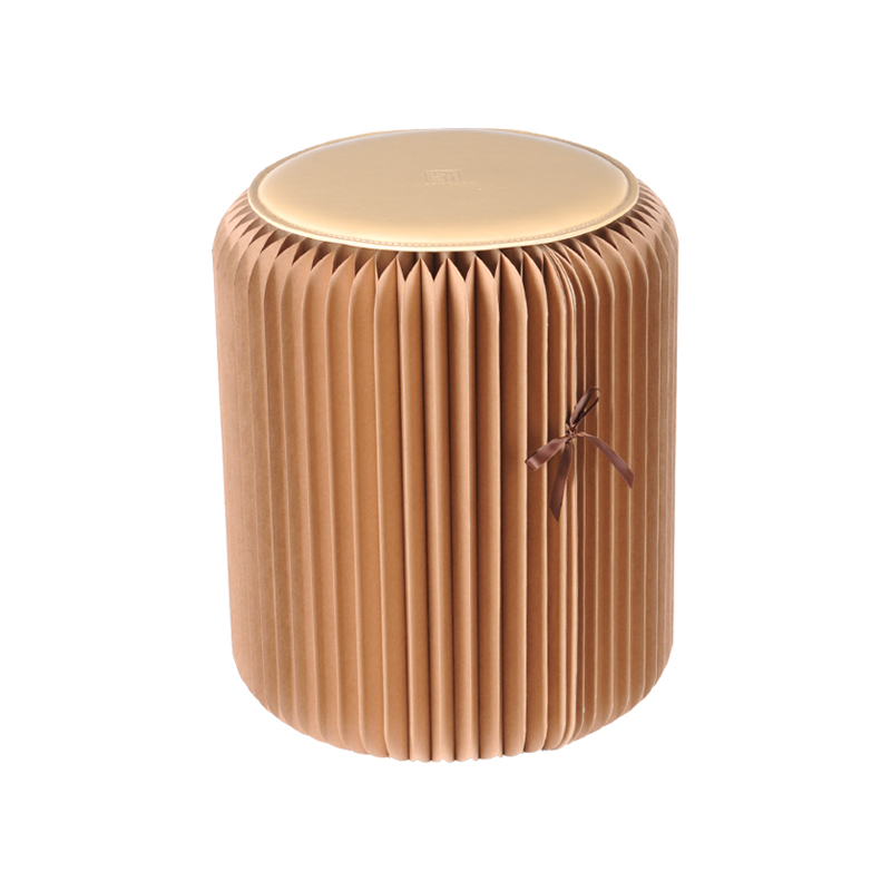 Ihpaper Folding Paper Stool Saloon Chair Round Seat Home