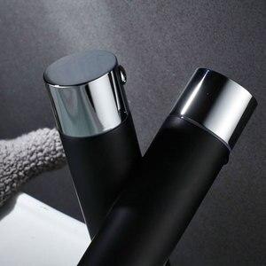 Image 3 - Hownifety Chrome z czarną polerowaną nablatowa umywalka do łazienki zestaw kranów bateria umywalkowa pojedynczy otwór pojedynczy uchwyt nowoczesny