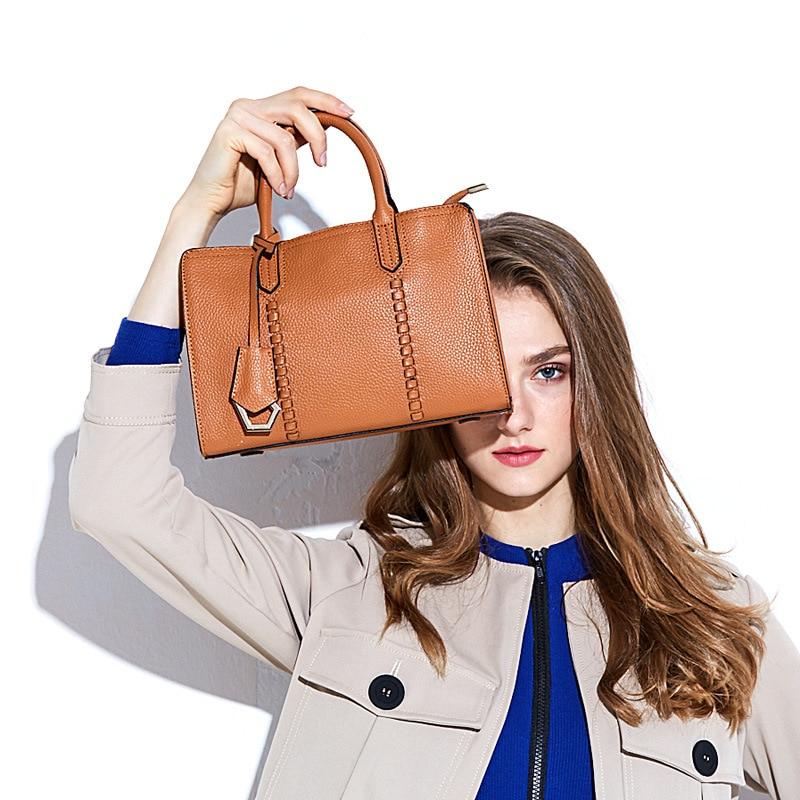Luxury 100 Real Leather Women Designer Handbags Brand Cowhide Genuine Leather Women Shoulder Messenger Bag Elegant