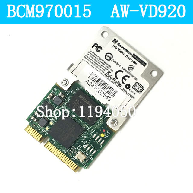 US $20 85 |Broadcom BCM970015 70015 Crystal HD Video Decoder Mini PCI E  Adapter 1080p AW VD920H-in Network Cards from Computer & Office on