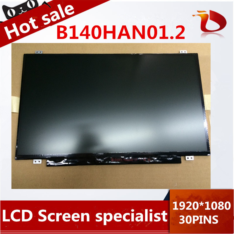 ФОТО Free shipping Gread A+ B140HAN01.2 LCD Screen 1920*1080 IPS LCD Screen 30pins EDP
