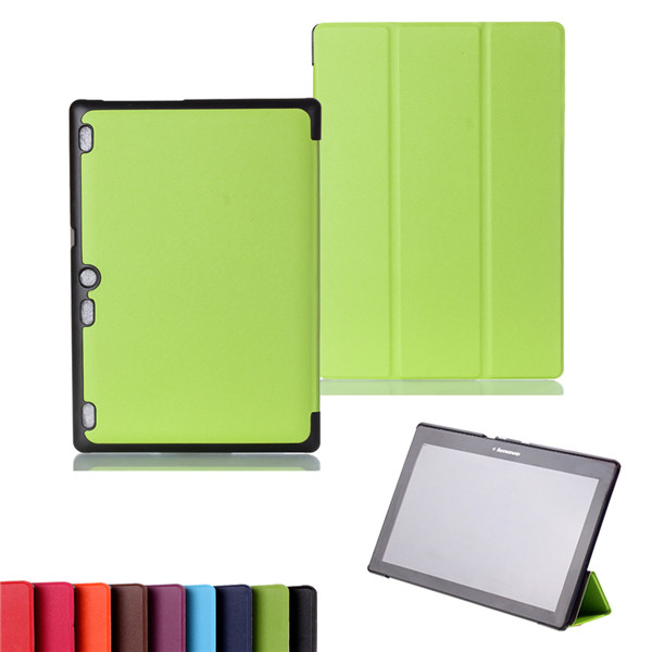 PU Leather Stand Cover Case for Lenovo Tab 2 A10-70 A10-70L A10-70F A10 70 10.1 Tablet + 2 Pcs Screen Protector Free Shipping for lenovo tab 2 a7 30 2015 tablet pc protective leather stand flip case cover for lenovo a7 30 screen protector stylus pen