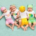 Bebé Ropa de Verano Ropa Del Bebé Establece Unisex Mamelucos Del Bebé de Algodón Ropa de Bebé Recién Nacido Bebes Mono Infantil Roupa