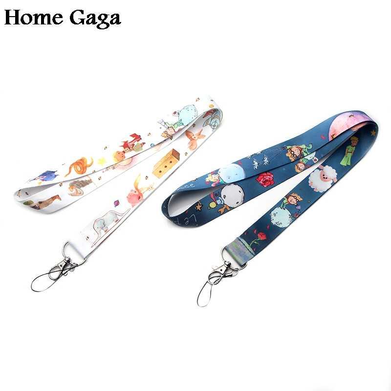 Homegaga little prince cartoon diy keychain lanyard webbing ribbon neck strap fabric badge phone holder necklace accessory D1704