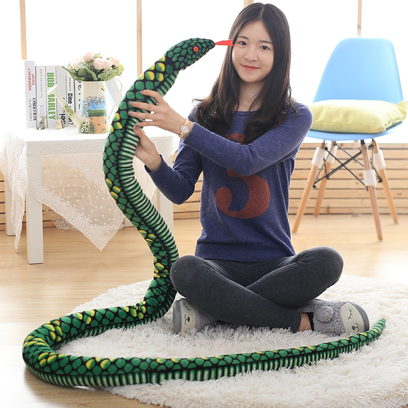 все цены на 1pc 280cm Simulation Plush toys Giant Snake animals python Cloth Toy Soft Stuffed Dolls Bithday Christmas party Gifts baby Funny