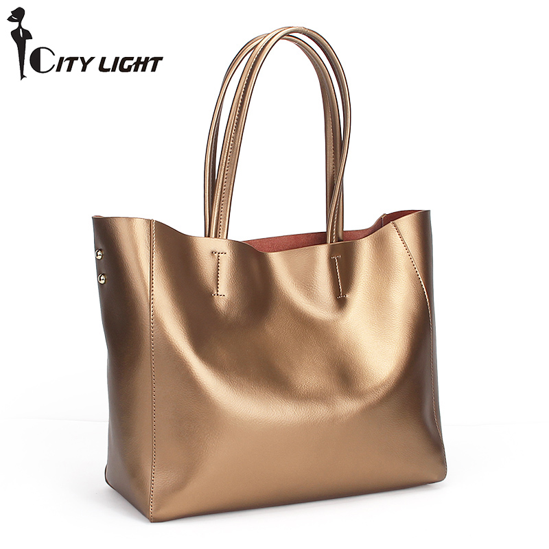 Women Handbags Genuine Leather Female Shoulder Bags Large Capacity Casual Tote Luxury Brand Designer Ladies Shopping Bags