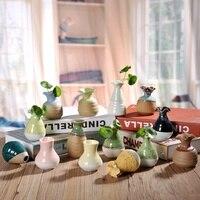 Gốm sứ trang trí bình Mini thời trang sắp xếp hoa handmade modern vase decor Nhà Trang Trí Nội Thất Hydroponics bình s