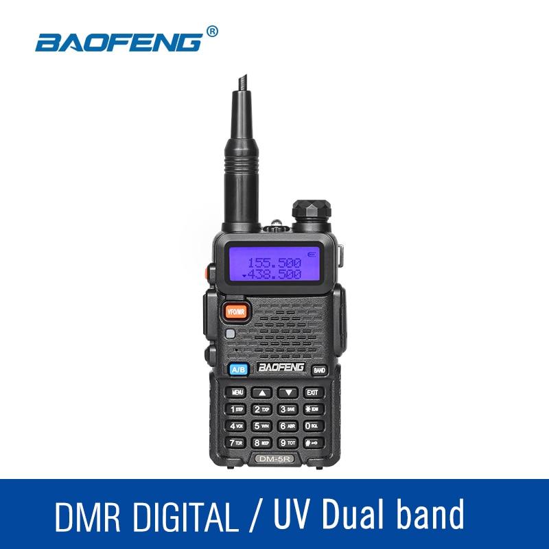 Original Baofeng DM5R DMR Digitall Analog Walkie Talkie VHF UHF 136 174 400 480Mhz 2000mAh 128CH