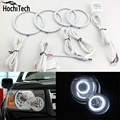 Для Land Rover Freelander 2 L359 2007 2008 09 10 2011 2012 RGB LED фар кольца halo angel demon eyes с дистанционным контроллер