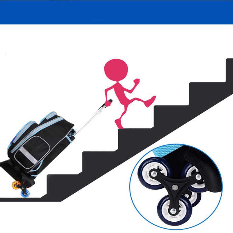 Saco de rolamento de rodas do trole do carro do menino caso 3d crianças viagem mala do trole escolar mochila do miúdo sacos do trole com rodas