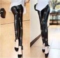 plus size pants women spring autumn 2016 bermuda feminina PU leather pants star nail bead thin pants leggings female A1352