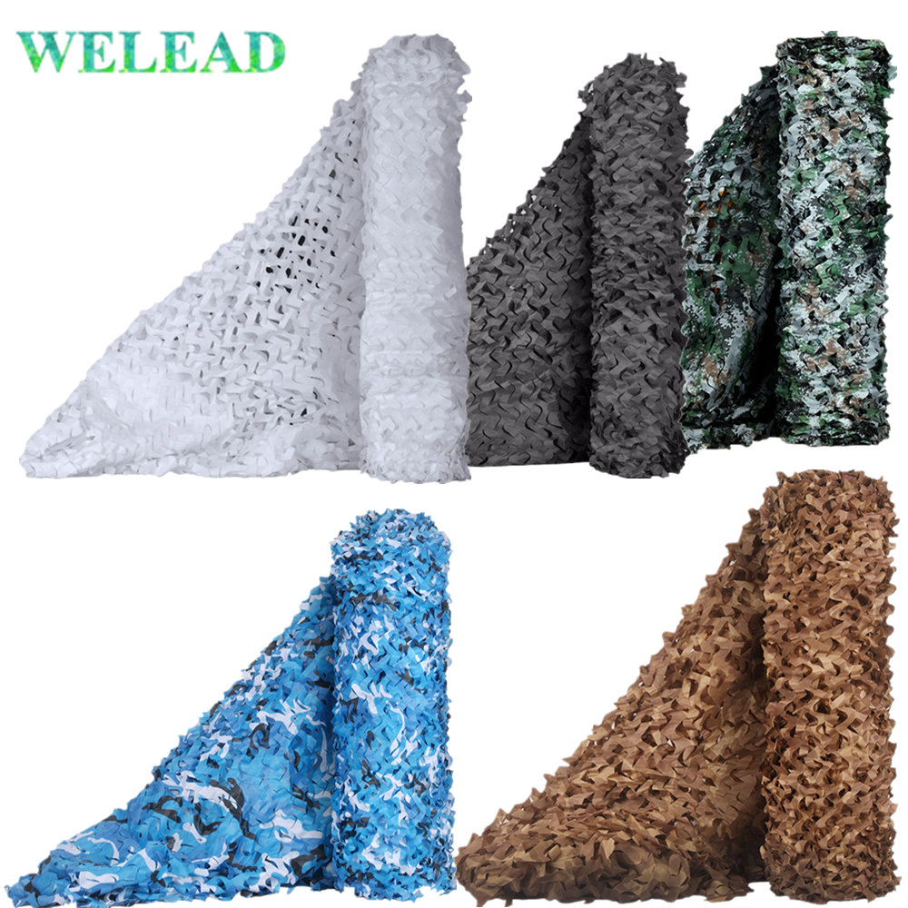 Military Camouflage Nets Black White Sand Blue Reinforced Hide Mesh Pergola Garden Shading Outdoor Awning Gazebo 3x5 2x5 4x4 3x4