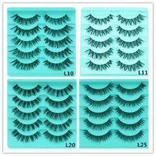 5 Pair/Lot Crisscross False Eyelashes full strip lashes Voluminous Hot sale false Eye Lashes 4 styles dropshipping 30p1214