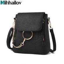2018 Ladies Hand Bags Famous Brand Bags Logo Handbags Women Fashion Black Leather pochette Shoulder Bag Women  Bags Purse  XS-66