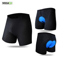 WOSAWE Men Cycling Under Shorts Mountain Road Bike Shorts Quick Dry Breathable 3D Sponge Padded Cycle Underwear Clothing K2418