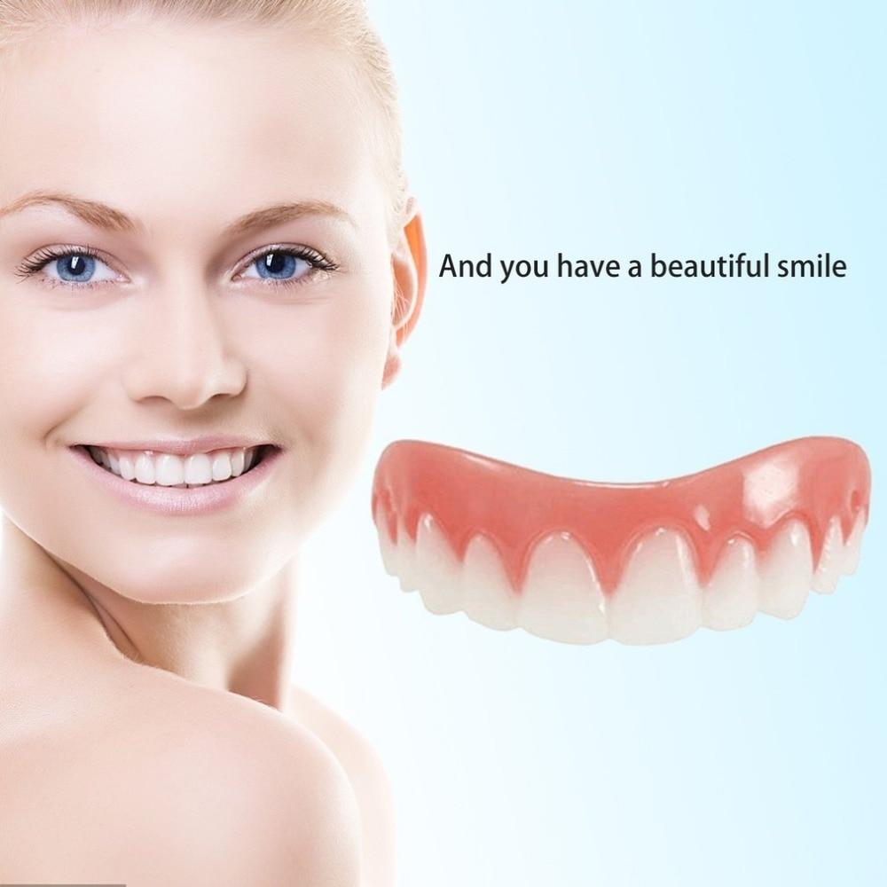Comfortable Natural Silicone Perfect Smile Veneers Men Women Teeth Upper Cosmetic Veneer Tooth Cover Beauty Tool Teeth Whitening 1