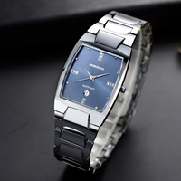 Suqare Classic Tungsten Steel Business Watch Men New Fashion Classic Anti Scrach Sapphire Crystal Water Resistance Couple Watch|Lover's Watches|   -