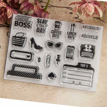 offee Date Transparent Clear Silicone Stamp/Seal for DIY scrapbooking/photo album Decorative clear stamp sheets image