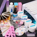 Pro 36W UV Dryer Lamp Glitter Powder French Nail Art Tips Gel Tools DIY Set Gel Nails Kits With Lamp 34202