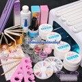Pro 36W UV Dryer Lamp Glitter Powder French Nail Art Tips Gel Tools DIY Set Gel Nails Kits With Lamp 34202