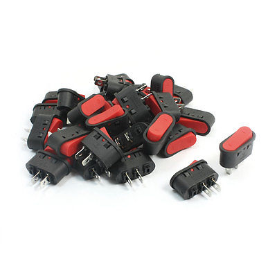 10Pcs 2Pin SPST Locking Snap in Boat Rocker Switch 6A AC250V 10A 125VAC KCD1-106 10pcs ac 250v 3a 2 pin on off i o spst snap in mini boat rocker switch 10 15mm
