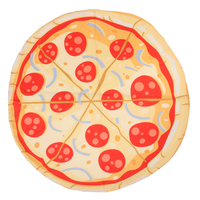 Beach Towel Roundness Print Pizza Blanket Summer Outdoors Sports Swimming Bath Yoga Mat Camping Mattress Sleeping Pad
