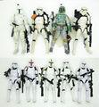 "Star Wars Negro Serie 6 ""Figura de Acción clone trooper boba fett stormtrooper sandtrooper"