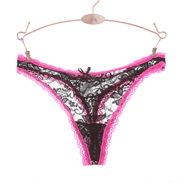 902f9b86853 M-XXL Full Lace Women Sexy G String Lace Panties Plus Size Thongs Ladies  Underwear