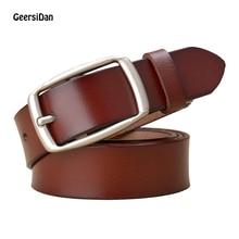 GEERSIDAN New belts for women leather belt female genuine strap straps dress Cowskin Leather Lady Belt