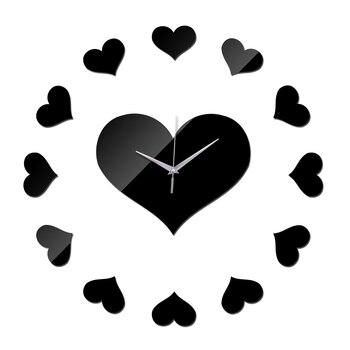 new clocks wall watch relojes de pared 3d diy Acrylic mirror Living Room Quartz Needle Sticker  Home Decoration 1