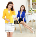 2016 New women's coat / suit jacket Casual and Work Wear One Button Blazer Tunic suit for women
