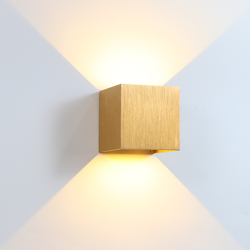 6W/10W LED Wall Lamp Indoor Bedroom Decoration Wall Light Outdoor Garden Lamp Waterproof IP65 Aluminum Brushed Gold/Silver/Brown