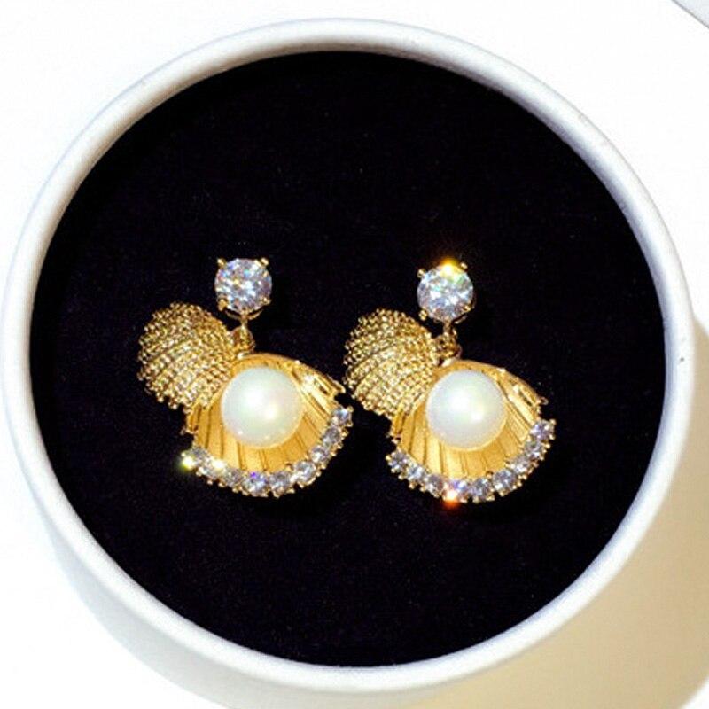 Nuevo S925 Pendientes de plata del perno circón de la perla - Joyas - foto 5