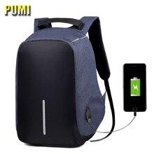 USB Charging Men Women 15 inch Multifunction Laptop Backpack Anti Theft Design Travel Bag Fashion Student