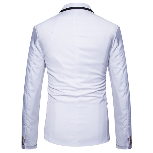 New School Formal Blazer Men Slim Fit Suit Jacket For Men White Men's Blazer Jacket Spring Blazer Xadrez Masculino EU/US size