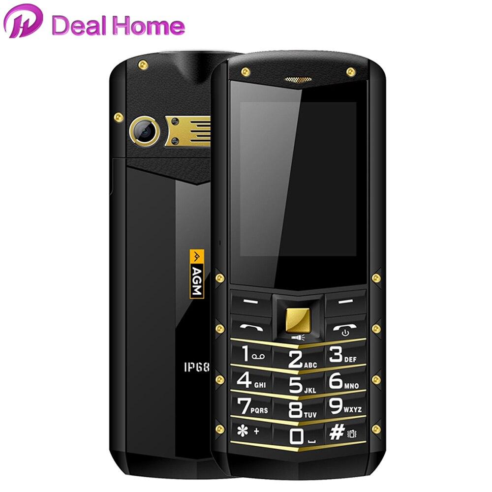 AGM M2 IP68 étanche métal protection téléphone Mobile 32 mo RAM 32 mo ROM 2.4 pouces anti-poussière téléphone double carte SIM GSM téléphone portable