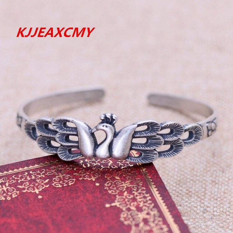 KJJEAXCMY s990 bijoux en argent sterling bracelet d'ouverture de paon modèles féminins expédition