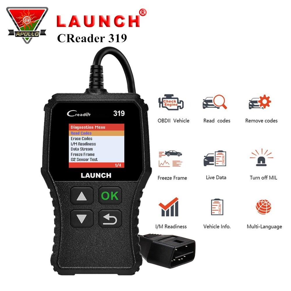 Lanzamiento de X431 Creader 319 CR3001 La OBD2 OBDII lector de código escaneo herramientas OBD 2 CR319 coche herramienta de diagnóstico PK AD310 ELM327 escáner