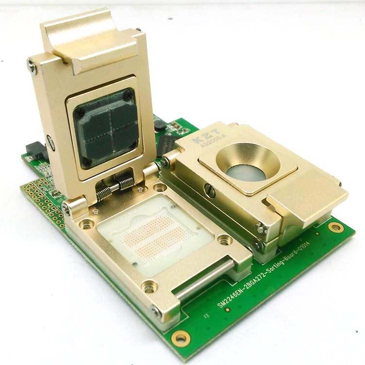 Liga Garra BGA272 Pogopin Solução de Teste de Teste de Fixação de Flash SSD Data SM2246EN Dois Em Uma Placa De Teste Para O Telefone Inteligente recuperação