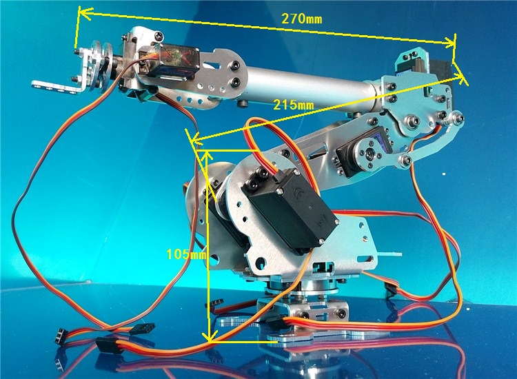 Industrial Robot 798 Mechanical Arm 100% Alloy Manipulator 6 Axis Robot arm Rack with 7 Servos