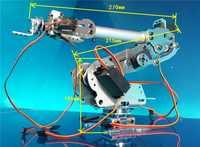 Industrial Robot 798 Mechanical Arm 100% Alloy Manipulator 6-Axis Robot arm Rack with 7 Servos