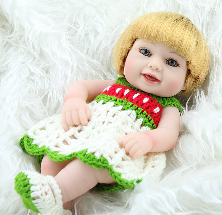 baby born mini silicone reborn babies doll 11 inches 28cm sweet girl