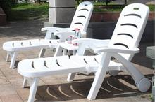 Whole set Thicken Pool Folding Sun Loungers portable deck chair Outdoor leisure beach chiar Garden Chair with side table