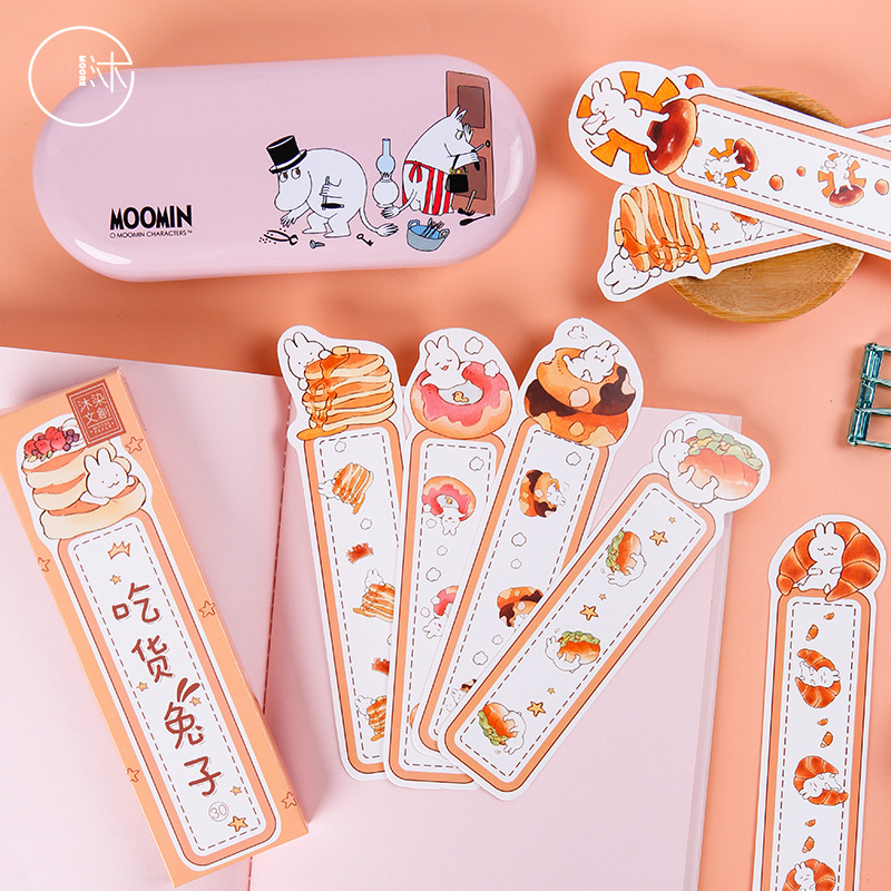 30 Pcs/1 Lot Eating Rabbit Paper Bookmarks Bookmarks For Books/Share/book Markers/tab For Books/stationery