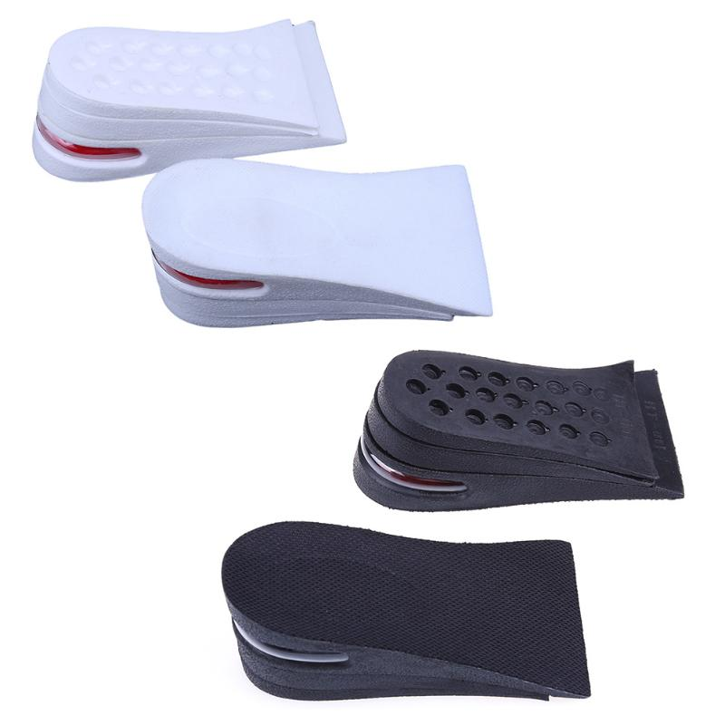 3-Layer Gel Half Elevator Height Increase Invisible Shoe Insole For Men// Women