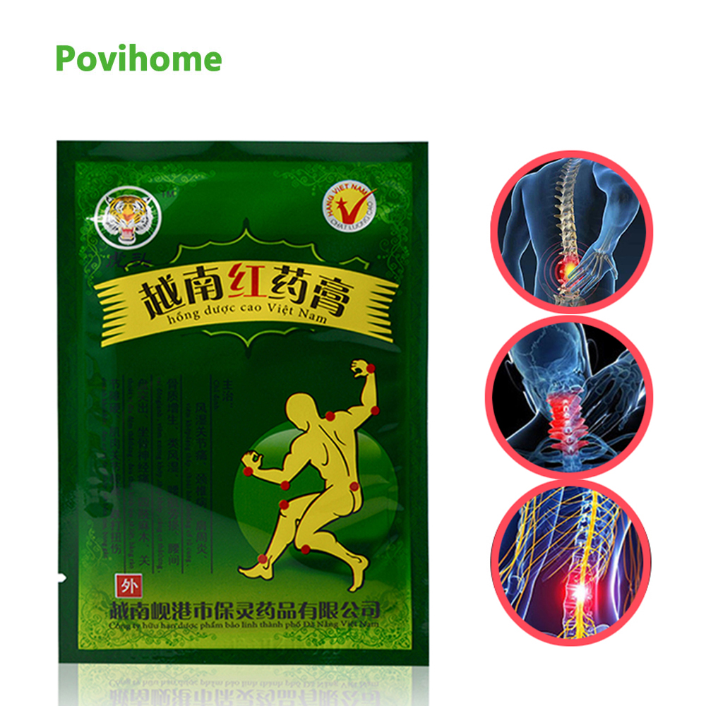 24pcs Vietnam Red Tiger Balm Plaster Creams White Body Neck Back Massager Pain Relief Patch Arthritis Cervical D1476(China)