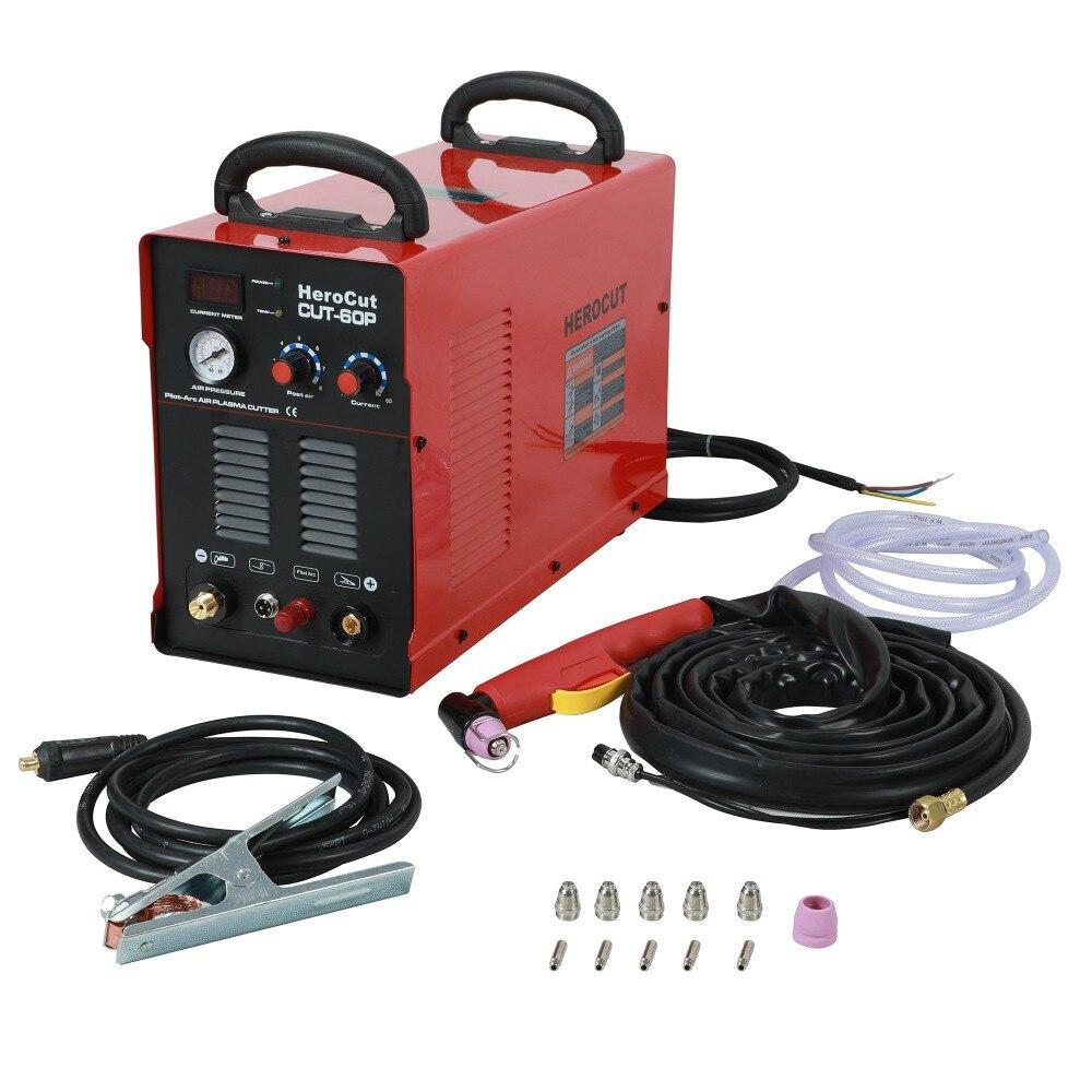 IGBT Arco Pilota HF CUT60P 60 Amps DC macchina di taglio Plasma Ad Aria Taglio al plasma Taglio di Spessore 20mm Taglio Pulito